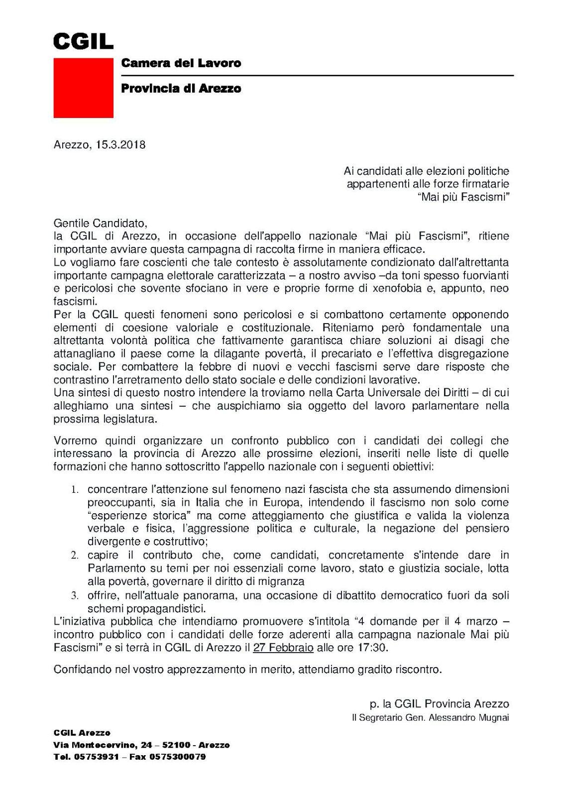 lettera di invito ad iniziativa 27 febbraio
